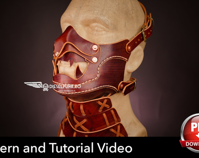 Samurai Mask Pattern - Mempo Mask - Pdf Download - Video Tutorial
