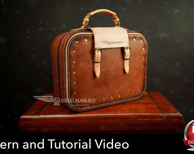Luggage Set Pattern - Pattern Set - Leather DIY - Pdf Download - Leather Bag - Video Tutorial