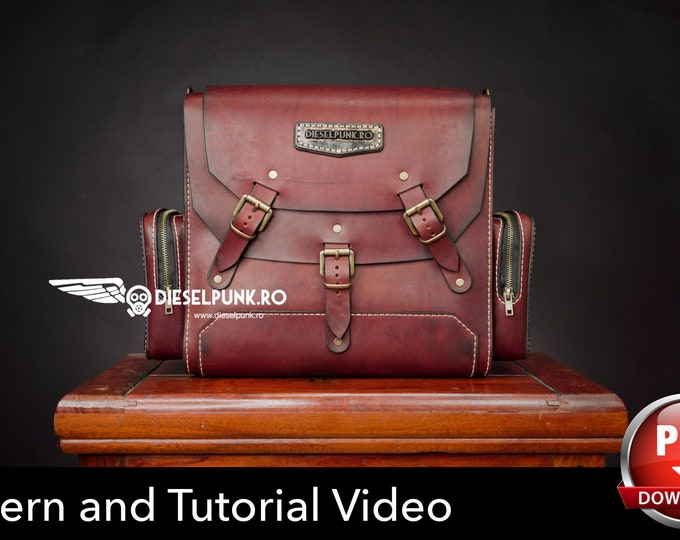 Bag Pattern - Pdf Download - Leather DIY - Camera Bag - Video Tutorial