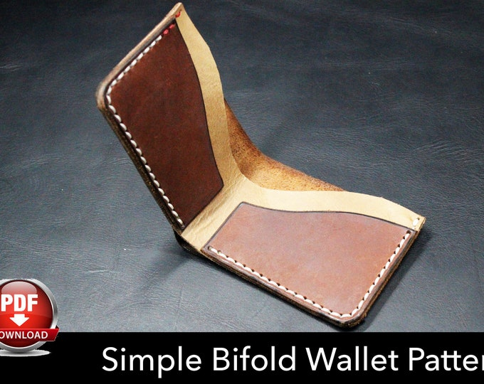 Wallet Pattern - Leather DIY - Pdf Download