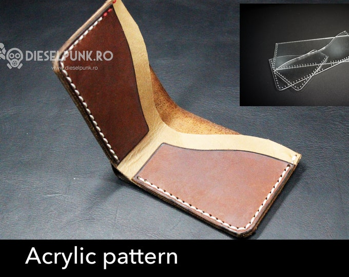 Wallet acrylic templates - Acrylic pattern - laser cut patern - Wallet template