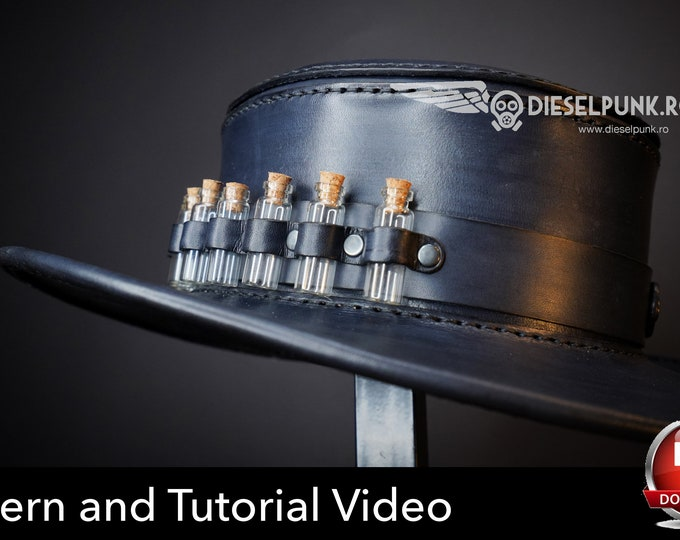 Leather Hat PATTERN - DIY Hat - Pdf Download - VIDEO tutorial