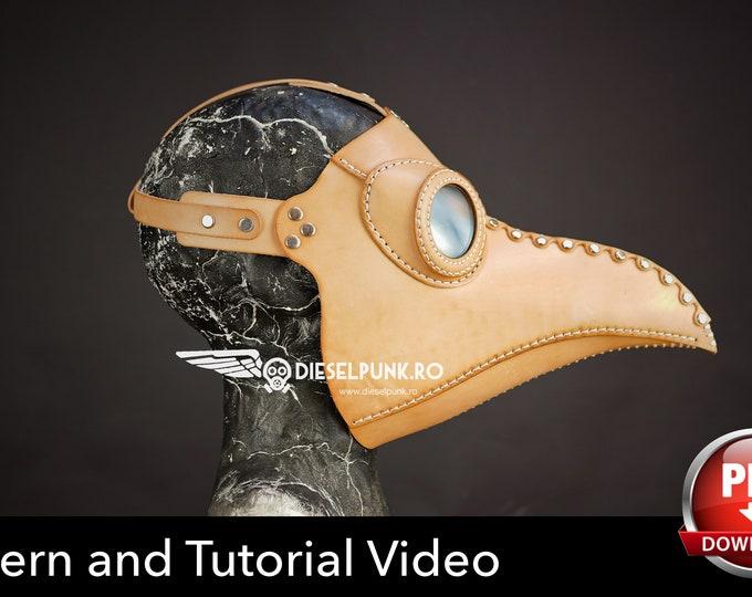 Plague Doctor Mask Pattern - DIY Pattern - Pdf Download - Video Tutorial