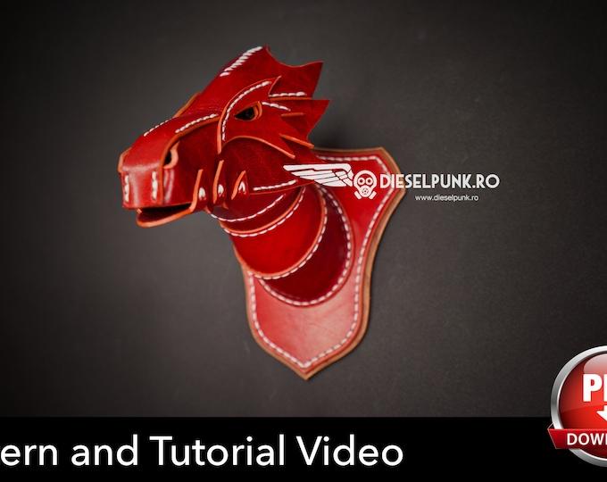 Dragon Head Wall Mount Pattern - DIY Pattern - Pdf Download - Video Tutorial