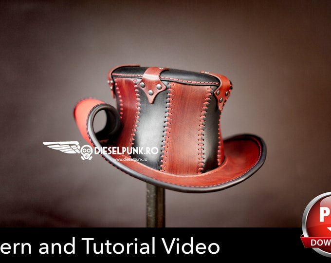 Top Hat PATTERN - DIY Hat - Pdf Download - Steampunk Hat - Video Tutorial