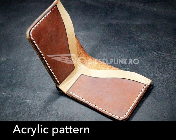Wallet acrylic templates - Acrylic pattern - laser cut patern - Wallet template