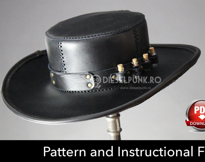 Plague Doctor Hat PATTERN - DIY Hat - Pdf Download