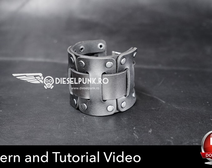 Wrist Cuffs Pattern - Wrist Bracers Pattern - Cuffs Pattern - Cosplay DIY - Pdf Download