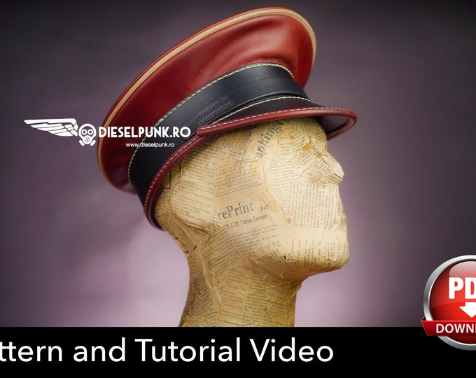 Officer Hat PATTERN - DIY Hat - Pdf Download