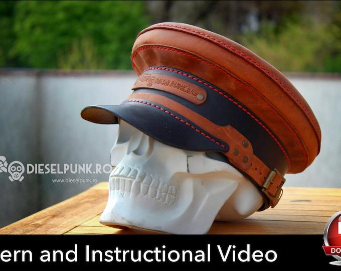 Leather Hat PATTERN - DIY Hat - Cap Pattern - Video Tutorial