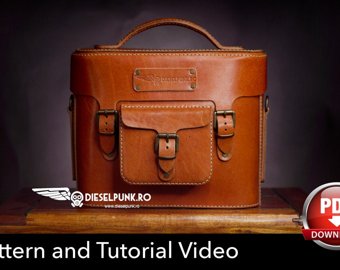 Leather Bag Pattern - Pdf Download - Leather DIY - Camera Bag - Video Tutorial
