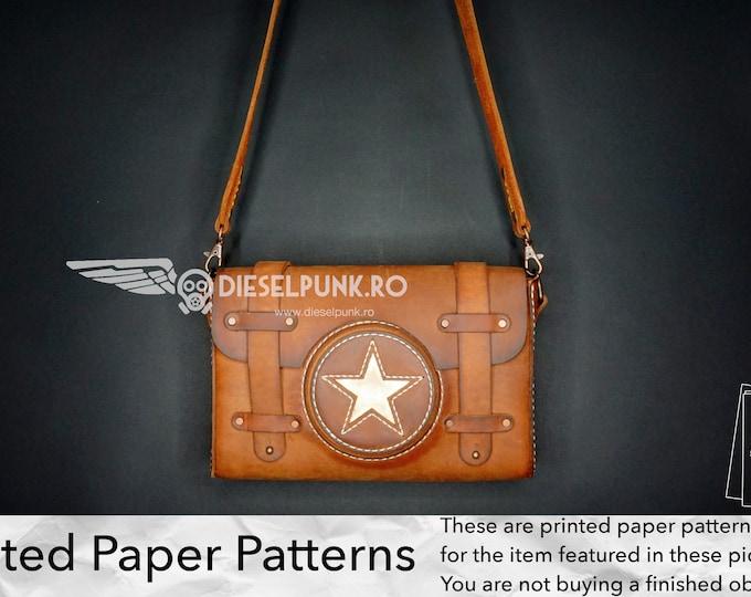Bag Pattern - Printed PAPER Patterns - Leather DIY - Messenger Bag Pattern - Video Tutorial