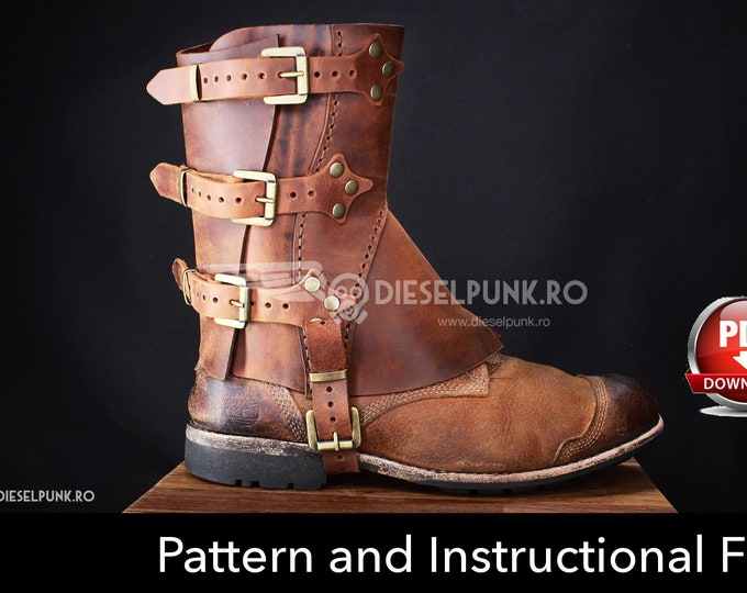 Gaiters Pattern - Leather DIY - PDF Download