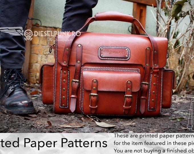 Bag Pattern - Printed Paper Patterns - Leather DIY - Explorer Bag - Video Tutorial