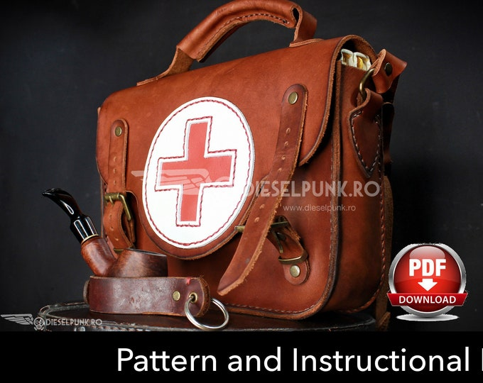 Bag Pattern - Leather DIY - Pdf Download - Medic bag