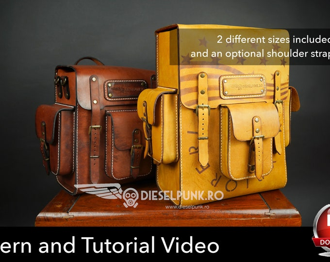 Backpack Pattern - Pdf Download - Leather DIY - Explorer Backpack - Video Tutorial