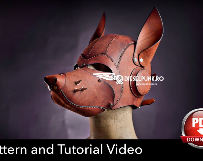 Dog Mask Pattern - Wolf Mask - Pdf Download - Pup Hood Pattern