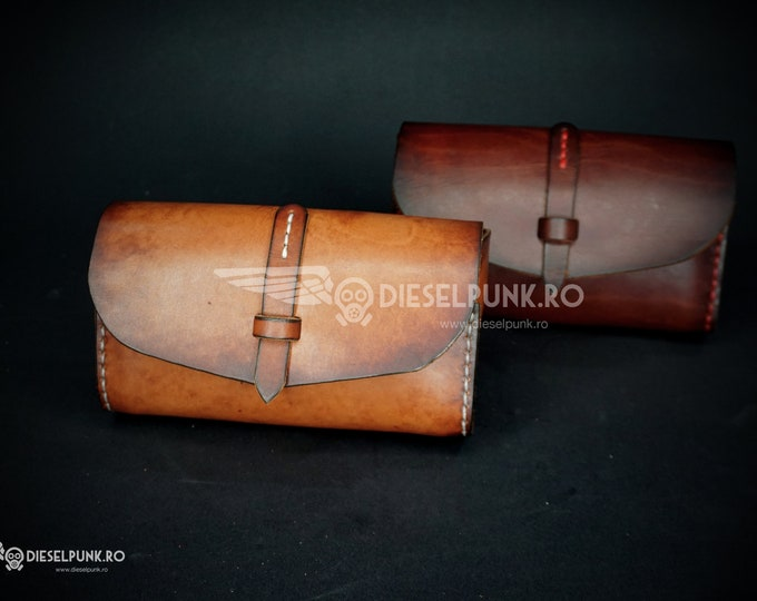 Leather Case - Pipe Box - Hand Made Case - Leather Gift- Glasses Leather case