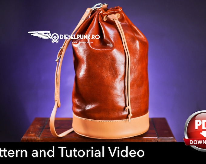Duffel Bag Pattern - Leather DIY - Pdf Download - Gym Bag - Video Tutorial