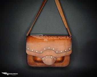 Steampunk Bag - Leather Bag - Hand made Bag - Messenger Bag