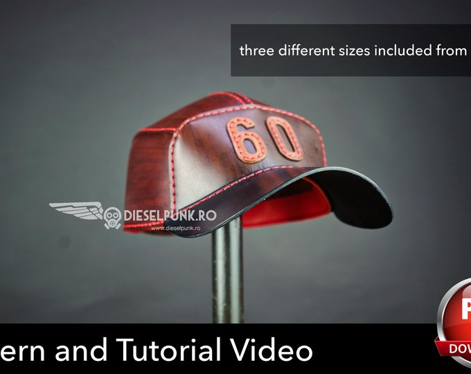 Leather Cap PATTERN - DIY Hat - Baseball Cap Pattern - Video Tutorial
