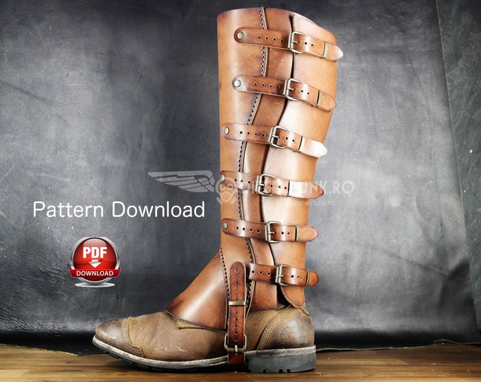 Gaiters Pattern - Half Chaps DIY - Pdf Download