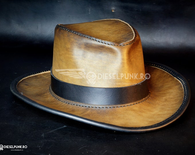 Indiana Jones Hat - Leather Hat - Safari hat