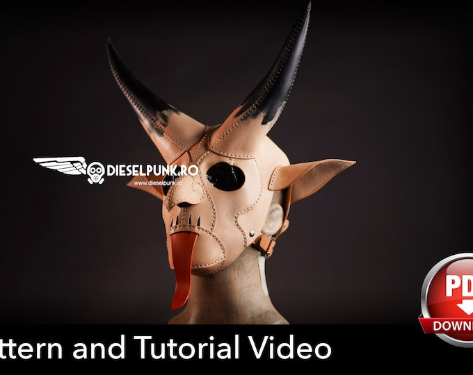 Krampus Mask Pattern - Devil Mask DIY - Pdf Download - Video Tutorial