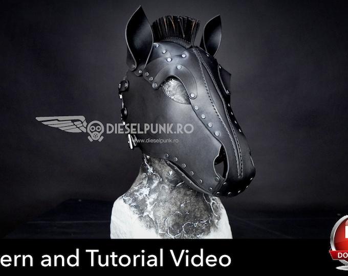 Horse Mask Pattern - DIY Mask - Pdf Download - Pony Hood Pattern