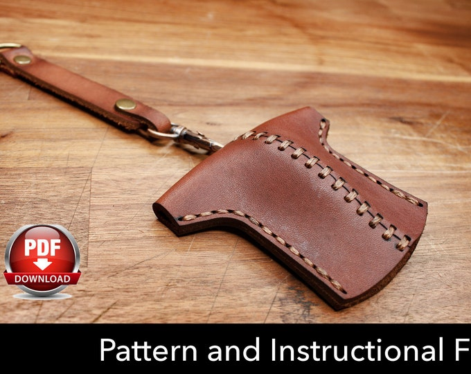 Key Holder Pattern - Leather DIY - Pdf Download - Key Fob