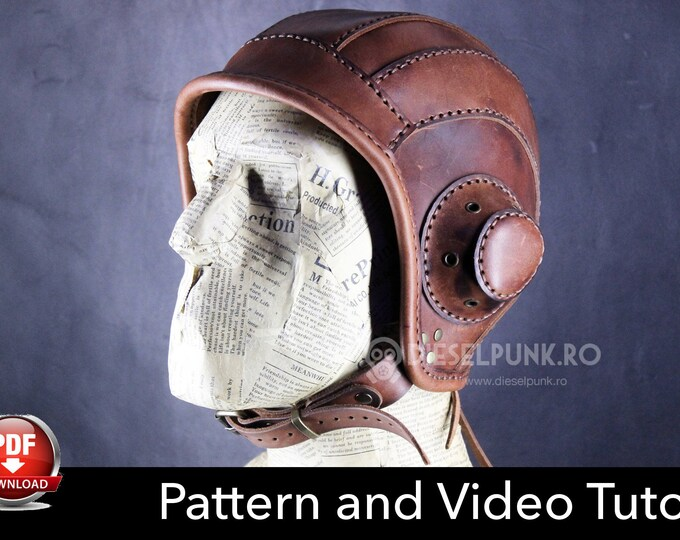 Aviator Cap Pattern - Cosplay DIY - Pdf Download - Video Tutorial