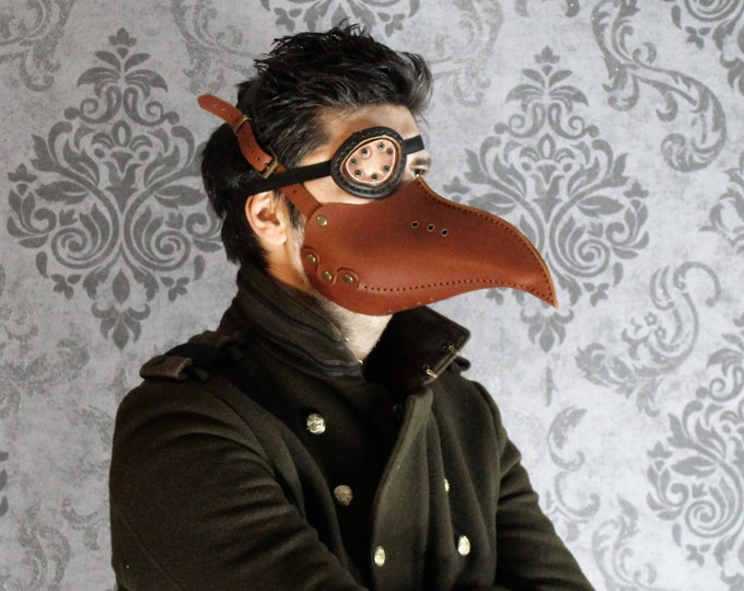 Plague Doctor Mask -  Steampunk Mask - Leather Mask - beak LARP - Cosplay Costume