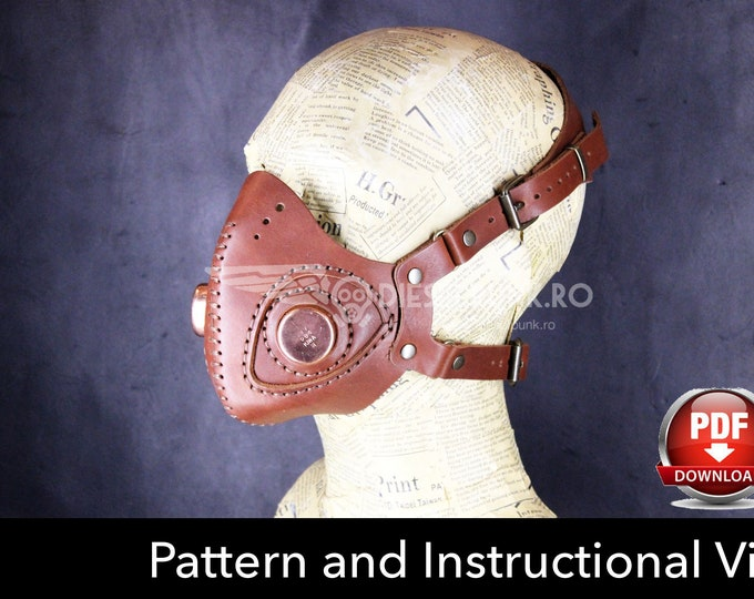 Steampunk Mask Pattern - DIY Mask - Pdf Download - Video Tutorial