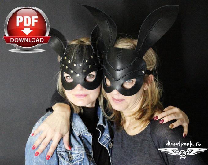Rabbit Mask Pattern - DIY Pattern - Halloween Mask DIY - Pdf Download