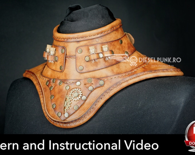 Gorget Pattern - Neck Armour - Cosplay DIY - Pdf Download - Video Tutorial