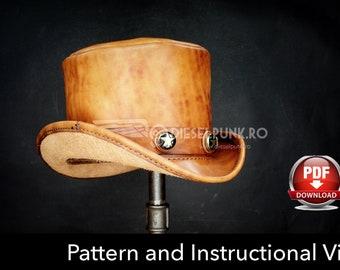 top hat pattern diy pattern pdf download uncle sam hat etsy