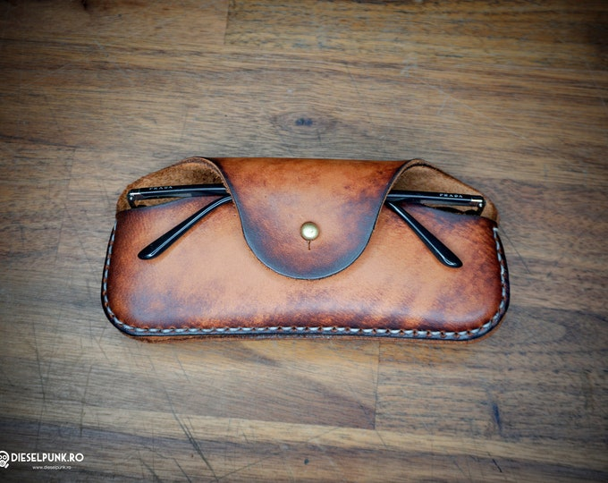 Leather Glasses Case - Eyeglasses Case - Leather case- Leather Accessories -