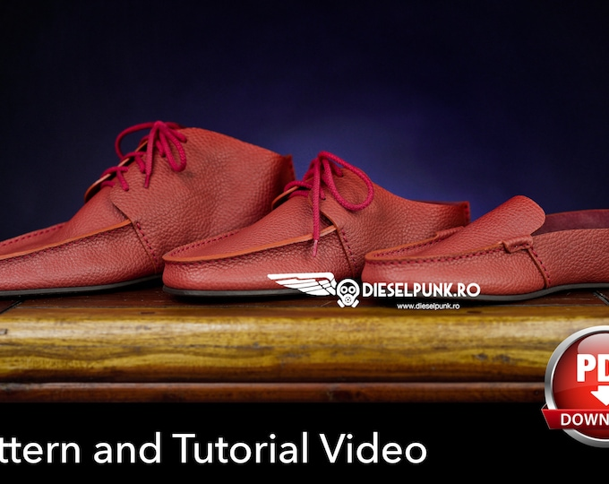 Moccasins Pattern - Shoe Templates - Leather DIY - Pdf Download - Loafers pattern - Video Tutorial