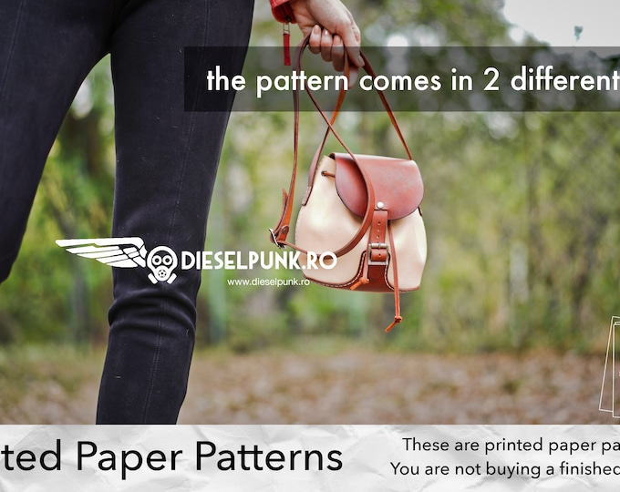 Ladies Purse Pattern - Printed Paper Patterns - Leather DIY - Leather Purse - Video Tutorial