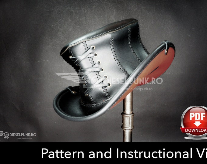 Top Hat PATTERN - DIY Hat - Pdf Download - Corset Hat - Video Tutorial