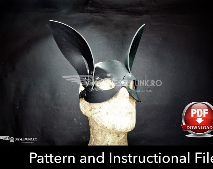 Rabbit Mask Pattern - Cat Mask Pattern -  DIY Leather