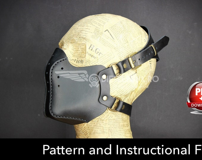 Steampunk Mask Pattern - DIY Mask - Pdf Download