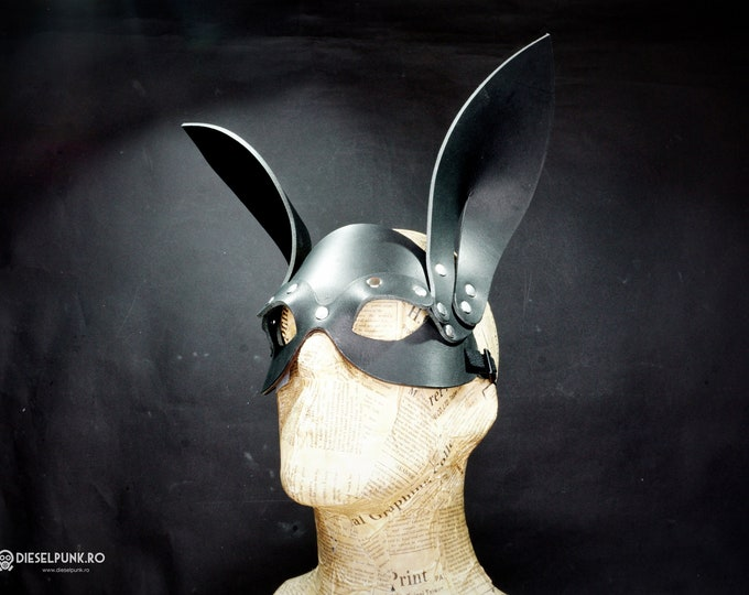 Rabbit Mask - Leather Mask - Cosplay Mask - fetish mask - animal mask