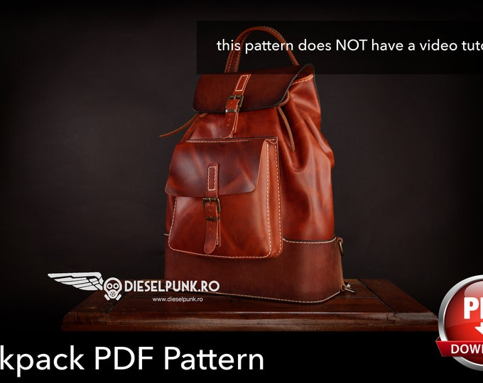 The D-Konstrukt Backpack - Backpack Pattern - Leather DIY - Pdf Download