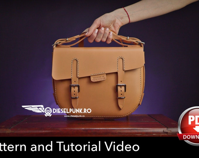 Bag Pattern - Leather DIY - Pdf Download - The Pandora Bag - Video Tutorial