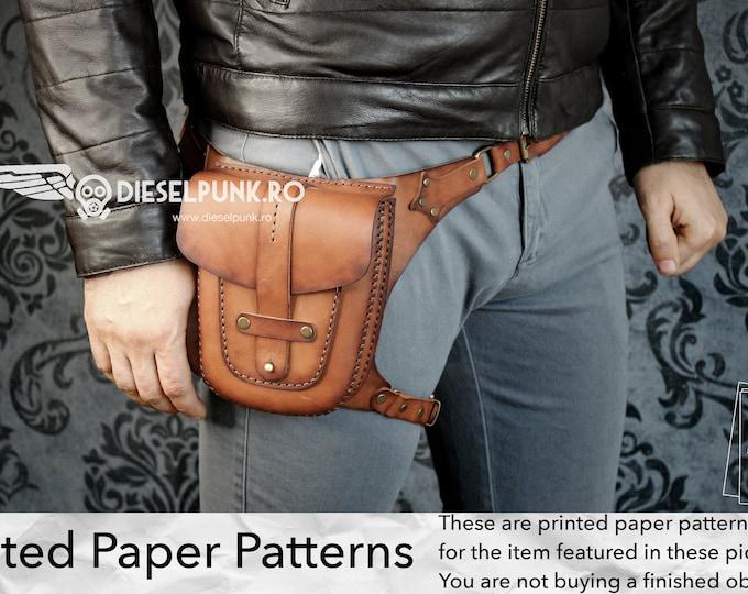 Hip Bag Pattern - Printed Paper Patterns - Leather DIY - Hip Bag - Video Tutorial
