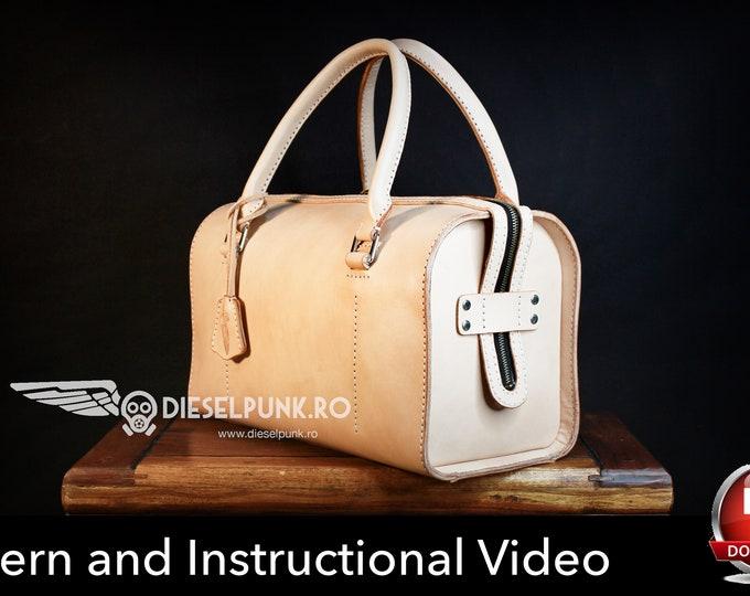 Bag Pattern - Leather DIY - Pdf Download - Weekender Bag - Video Tutorial