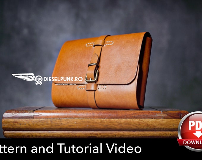 Leather Tool Pouch Pattern - Pdf Download - Leather DIY - Pipe Pouch - Video Tutorial