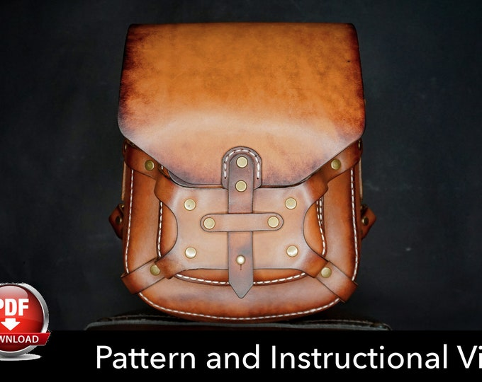 Backpack Pattern - Leather DIY - Pdf Download - Leather Pattern - Rucksack Pattern - Bag Pattern