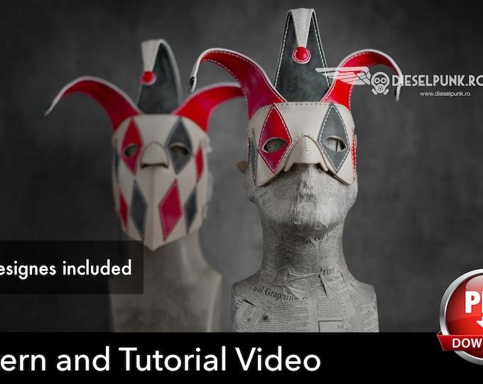 Venetian Mask Pattern - Masquerade Mask -  Halloween Mask Pattern